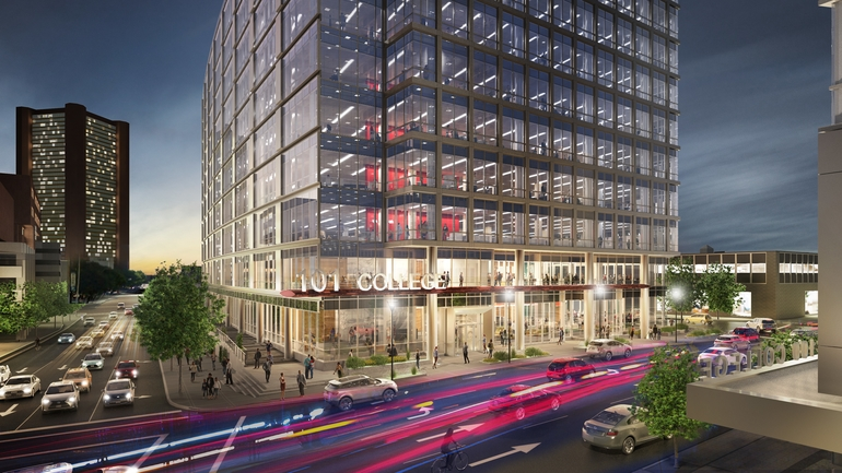 Development agreement outlined for 101 College St. project